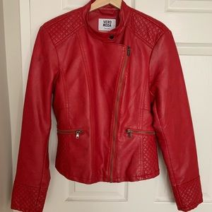 Vero Moda faux leather jacket size L